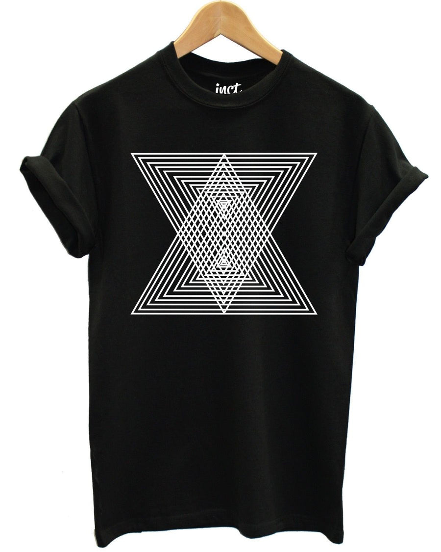 Geomertic Triangle T Shirt Fashion Geometry Hipster Tumblr Indie Urban Retro