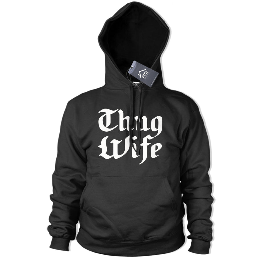 Thug Wife Hoody Womens Funny Wifey Hoodie Sweater Life Bride Hen Do Gift Tee 452