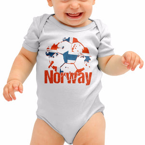Norway Football Shirt Norges fotbal Baby Grow Romper Suit Babygrow Gift B40