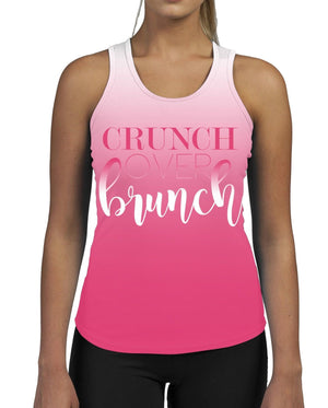 Crunch Over Brunch WOMENS GYM TANK Top Vest Ladies Fitness Muscles Funny Slogan
