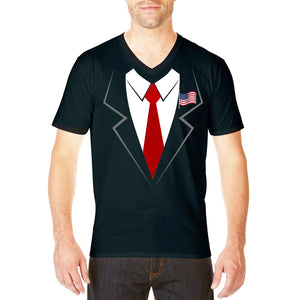 Trump Fancy Dress Funny T Shirt FREE Make America Great Again Baseball CAP 762
