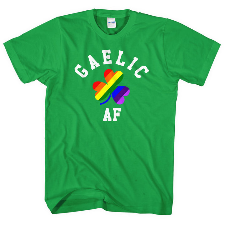 Gaelic AF T-Shirt Gay Pride LGBT Irish St Patricks Day Men Women Bi Trans L247