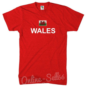 Wales Flag + Country Tshirt World Cup Football Rugby Welsh Commonwealth T Shirt