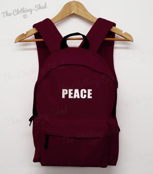 PEACE BACK PACK HIPSTER BAG HIPPIE HAPPY COLLEGE BOOK SCHOOL SWAG DOPE RUCK SACK