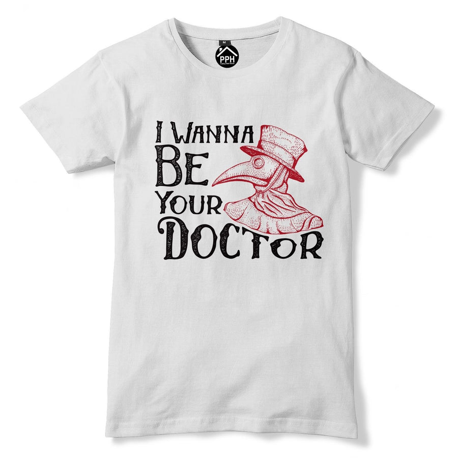 I Wanna Be Your Doctor T Shirt Plague Doctor Mask Victorian Bird Halloween 144