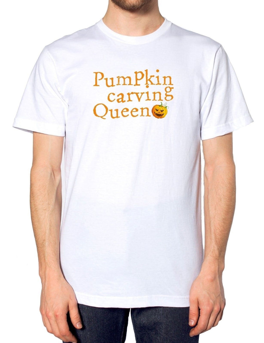 Pumpkin Carving Queen T Shirt Halloween Mum Mother Party Host Scary Funny Artist