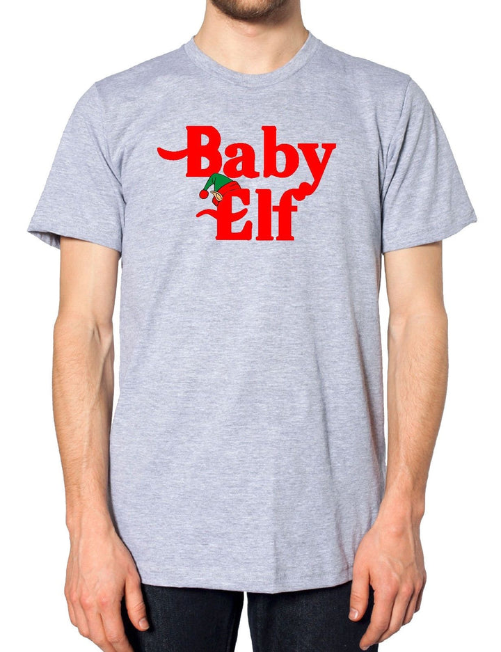 Baby Elf Christmas T Shirt Family Kids Mummy Daddy Matching Tops Day Santa Gift , Main Colour Grey