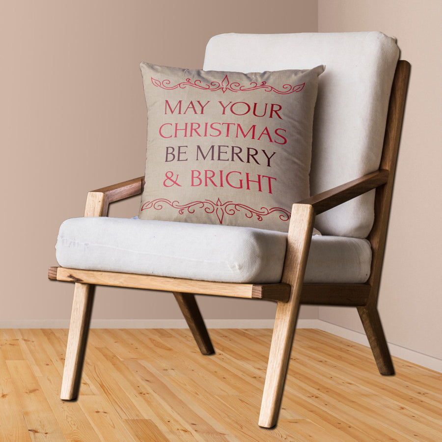 Bright and Merry Christmas Cushion Cover Cute Home Decor Noel Decorations ST41