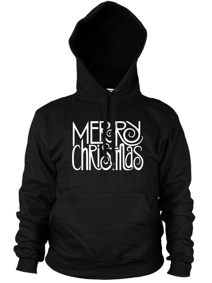 MERRY CHRISTMAS HOODIE FONT WRITING HOODY GIFT PARTY JUMPER XMAS MEN WOMEN KIDS