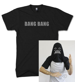 BANG BANG GORILLA DISGUISE T SHIRT ASK ME ABOUT MY MEN KID WOMEN