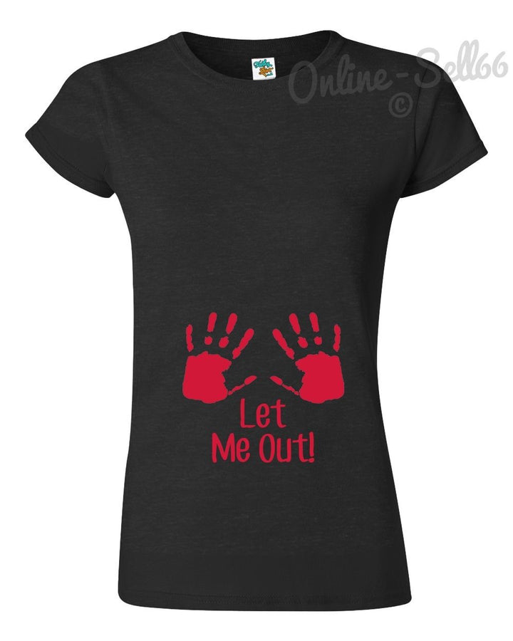 Let Me Out Baby Funny T Shirt Men Women kids Pregnant Mother Mum Maternity