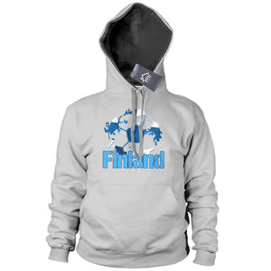 Finland Football Fans HOODIE Supporters Shirt Sweater Finish Gift World Cup B40