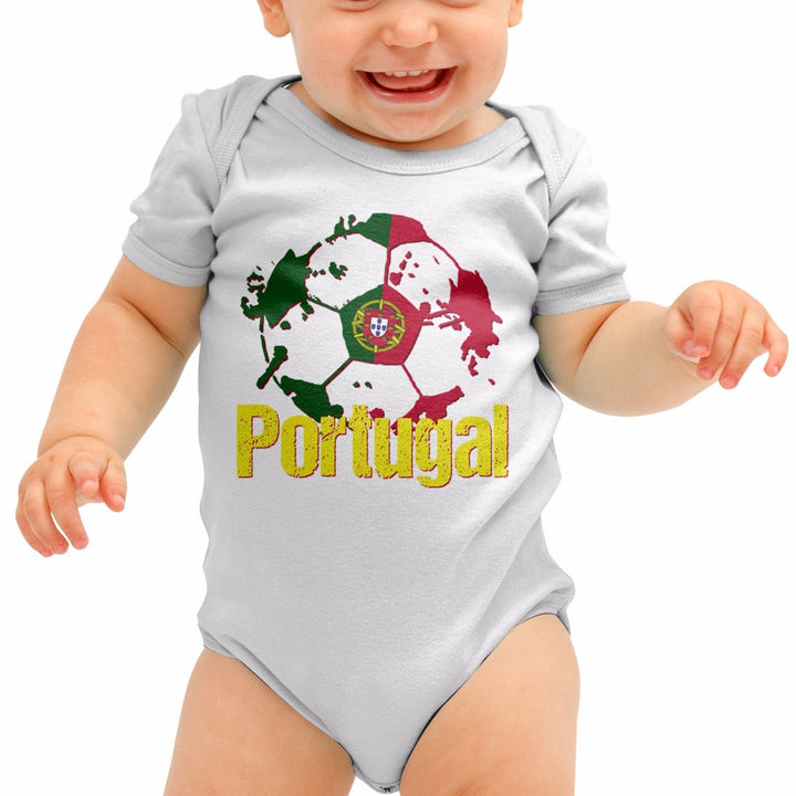 Portugal Football Shirt Ronaldo Euro Baby Grow Romper Suit Babygrow Body B40