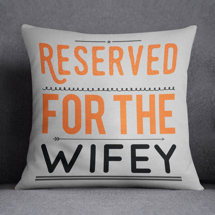 Reserved for Hubby Wifey Funny Couples Cushions Valentines Day Gift Wife ST118