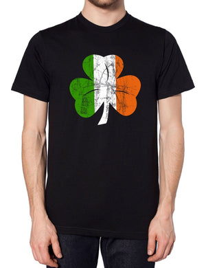 Shamrock Clover Ireland Flag T Shirt Tee Funny St Patrick Day Leaf Top Men Women