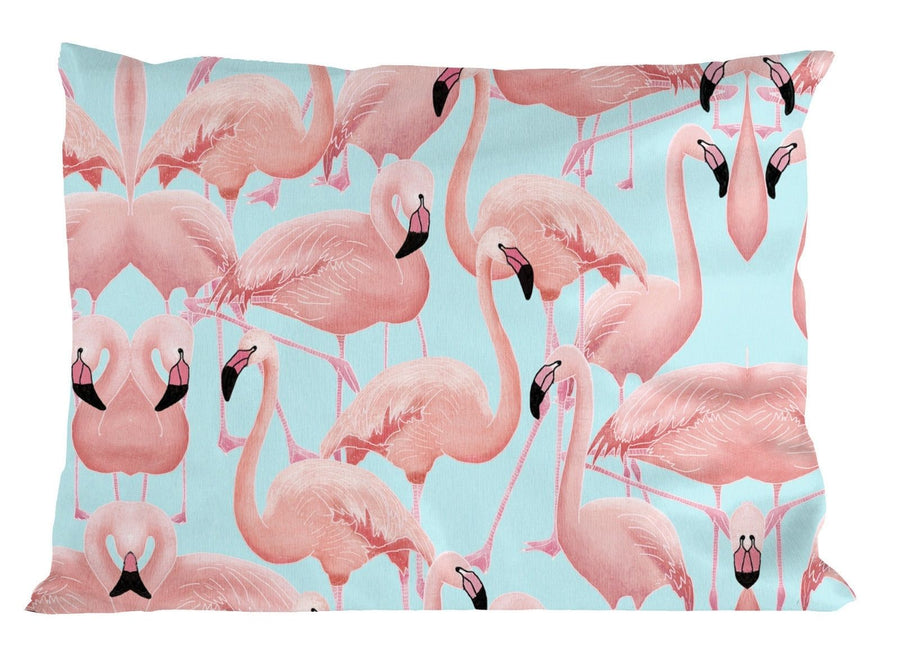 Blue Flamingo PILLOW Case Cover Home Modern Decor Girls Teenager Tumblr Fresh