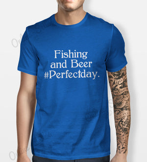Fishing and Beer Tshirt Mens Womens Shirt Tee Sport Perfect day Funny Fish Carp