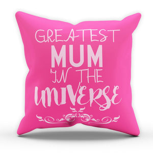 Greatest Mum In The Universe Pillow Cushion Mothers Day Gift Present Kids World