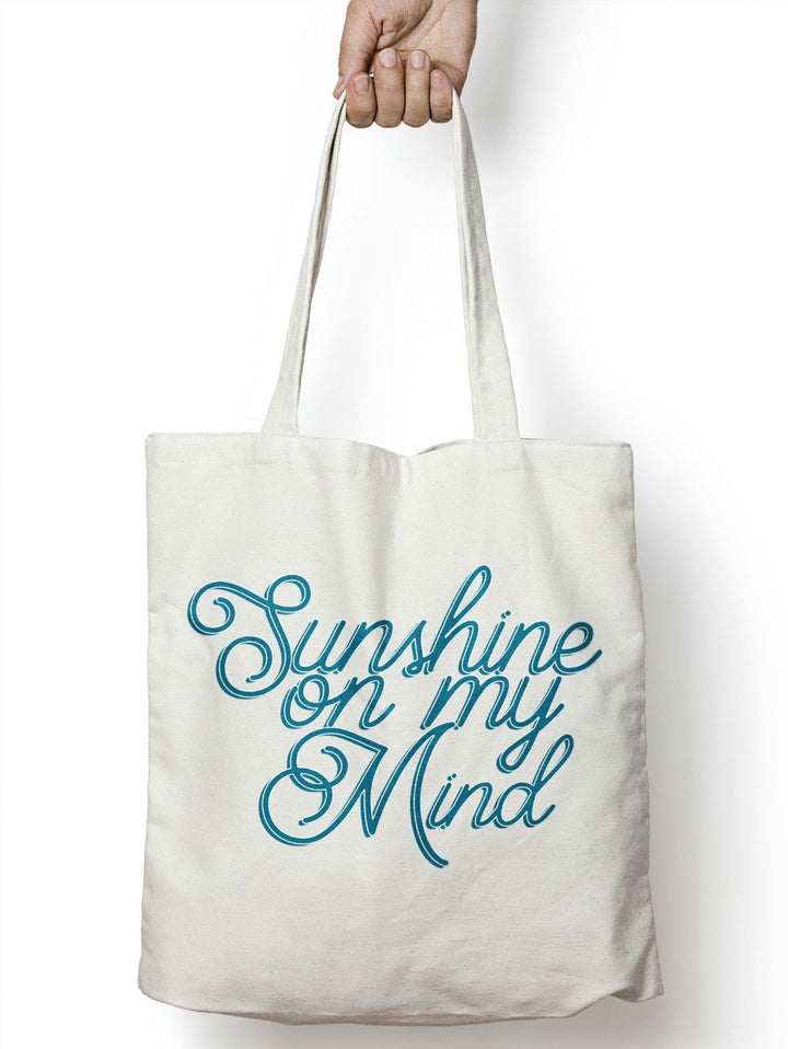 Sunshine On My Mind Beach Bag Shopper Tote Holiday Summer Heat Tan Canvas  M113