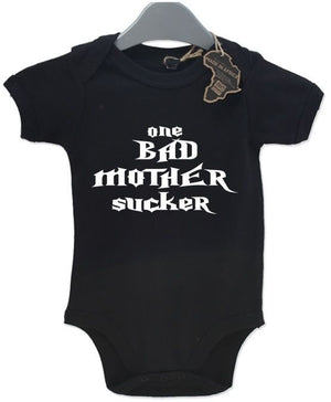 One Bad Mother Sucker BabyGrow Gift Vest Funny Baby Grow Birthday Present Unisex