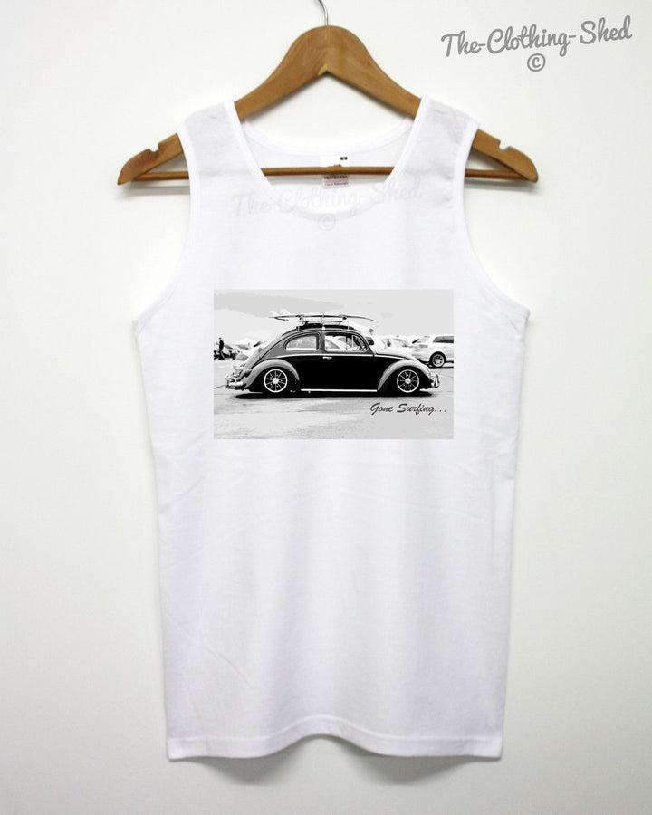 Gone Surfing Vest Hippie Beetle Rad Awesome Indie Beach Singlet Tank Sleeveless