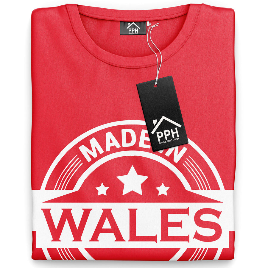Made In Wales T Shirt Cymru  TShirt Davids Day Welsh Rugby T-Shirt Flag Top 868