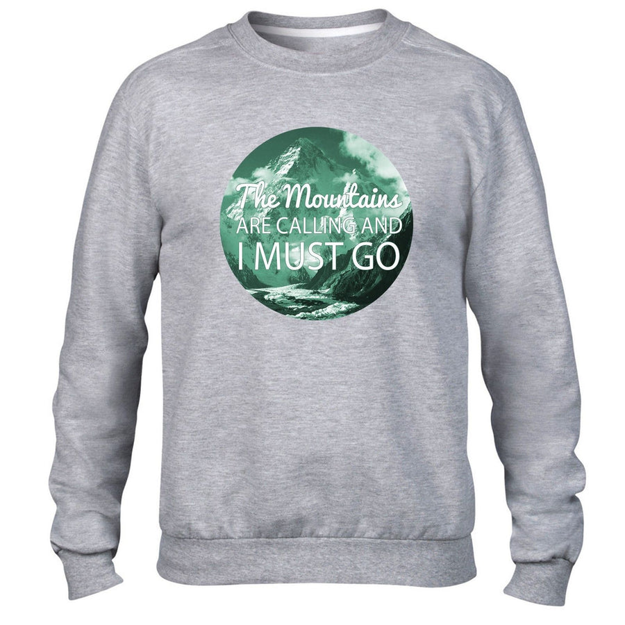 The Mountains are calling Funny Hipster Sweatshirt Skiing Snowboading Sweater
