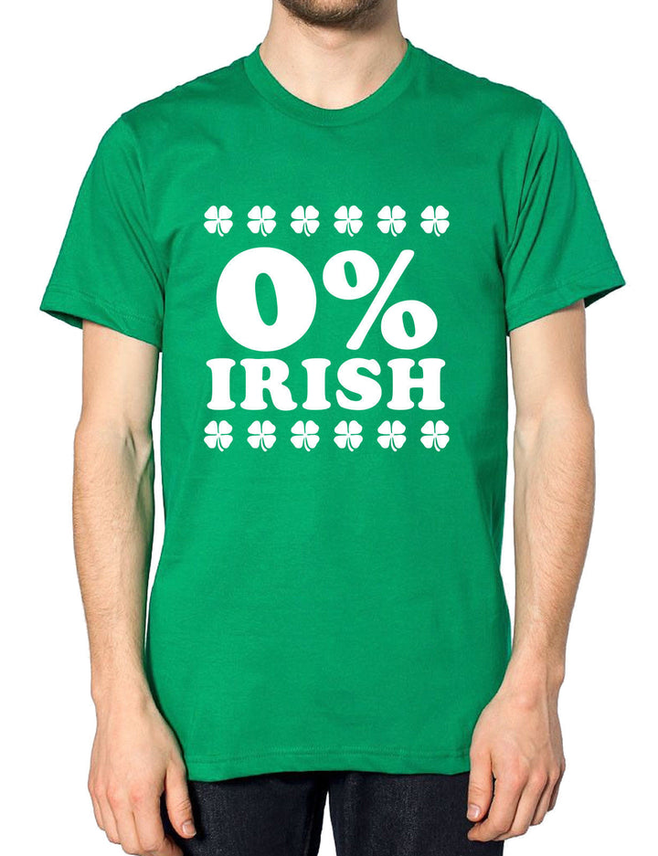 0% Irish T Shirt St Patricks Day Funny Outfit Top Men Women Percent Irish Paddy, Main Colour Irish Green