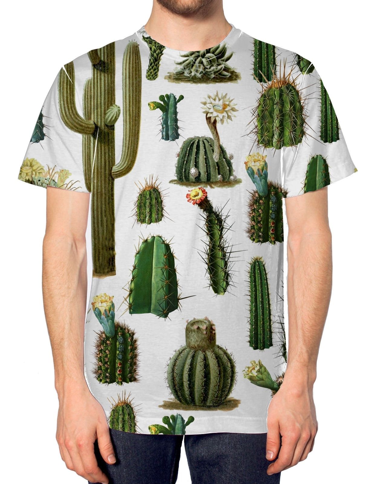 0d199bf478e6 Cactus All Over Fashion T Shirt Tumblr Hipser Style Mens Design Summer  Autumn
