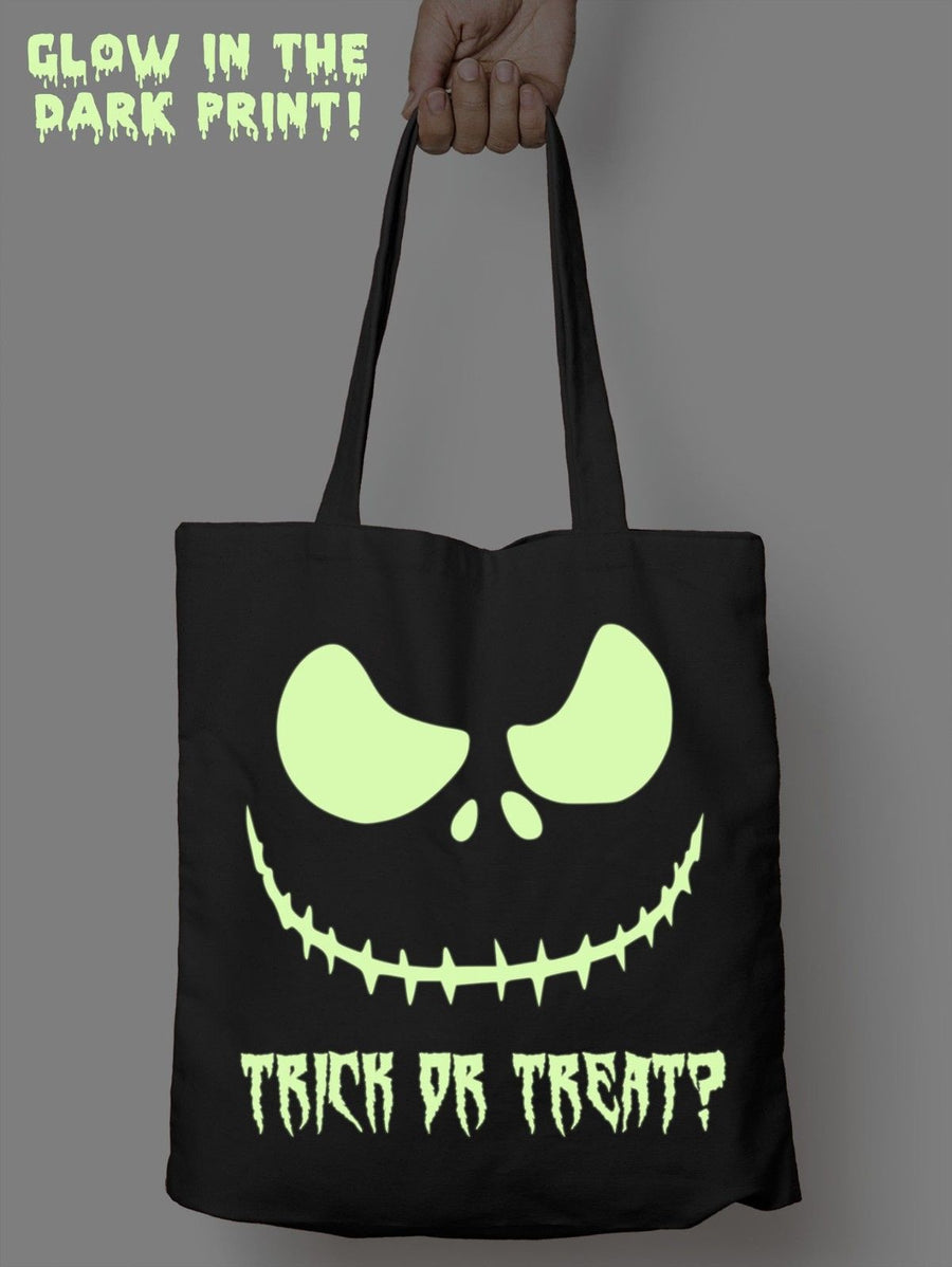 Glow in the Dark Halloween Bag Trick Or Treat Kids Tote Shopper Boy Girl Sweet