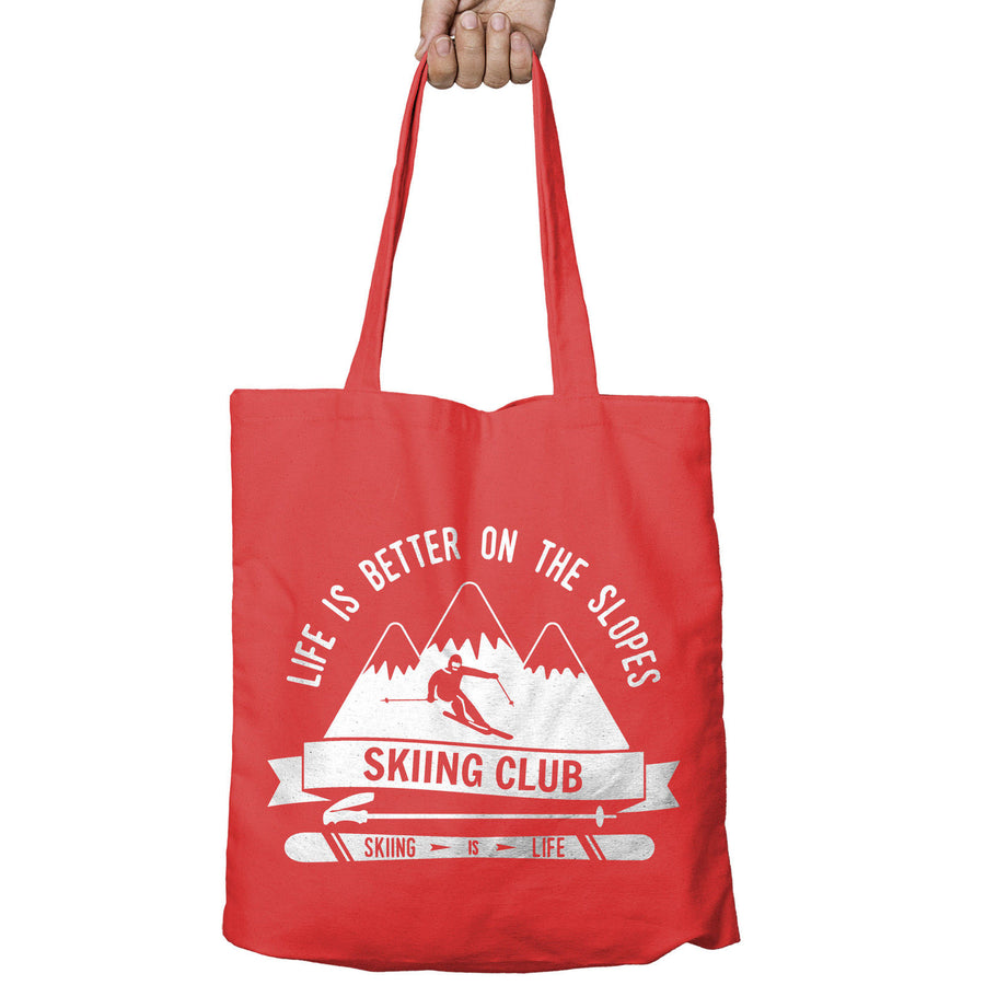 Life is Better on the Slopes Ski Shopper Tote Bag Snowboard Shopping Gift 499