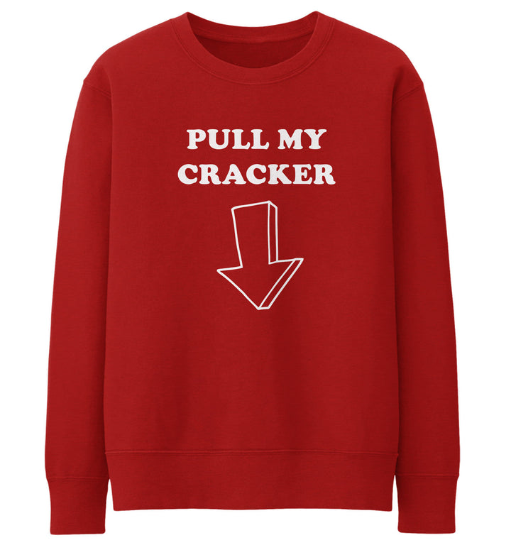 Pull My Cracker Jumper Novelty Sweatshirt Christmas Rude Joke Sweater Men JC22