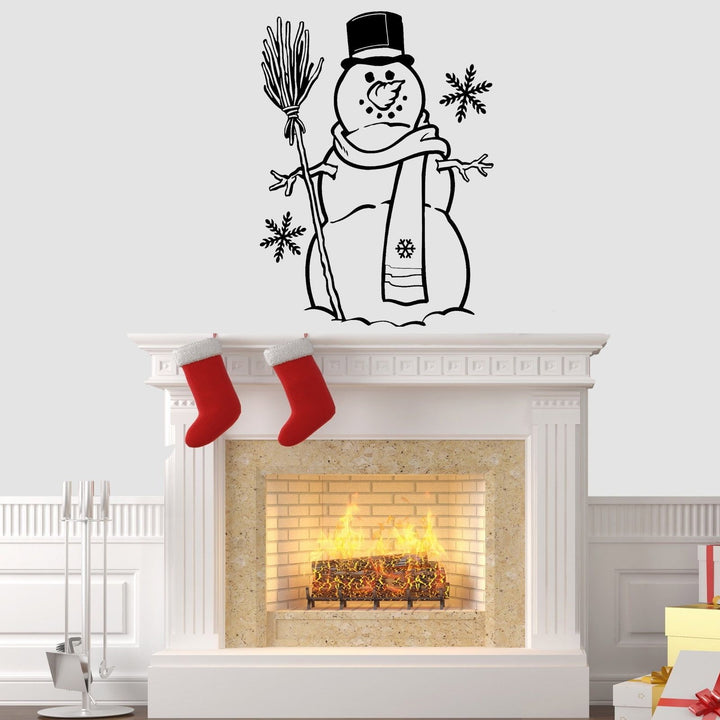 Snowman Christmas Wall Sticker Vinyl Decorations Windows Art Xmas Decal Decor W4
