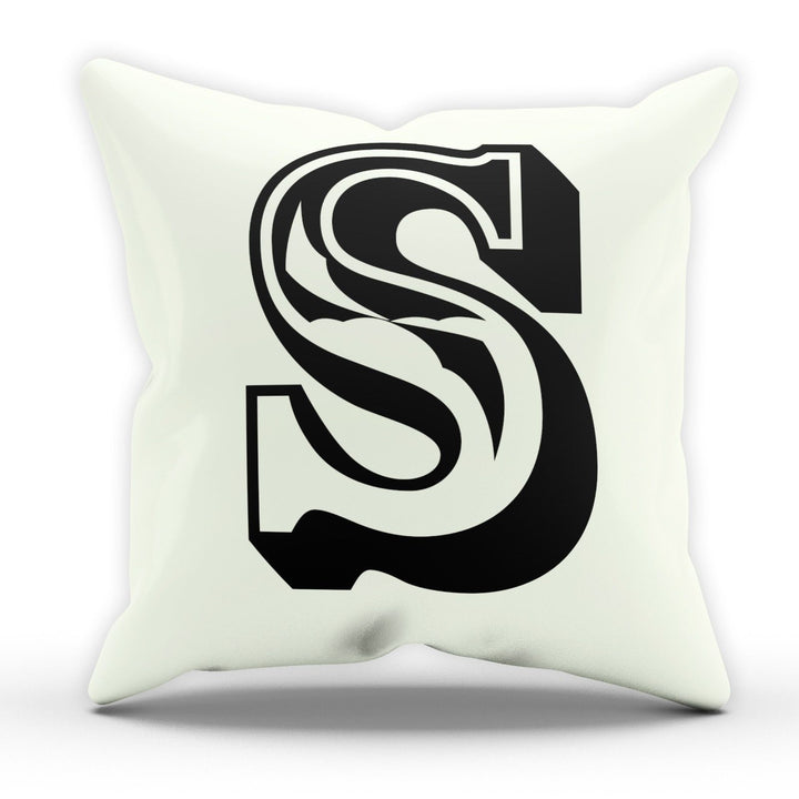 S Rose Letter Cushion Pillow Personalised Gift Present Birthday New Home Furnish