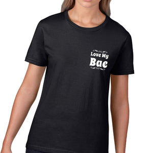 Love My Bae POCKET Womens T Shirt Cute Valentines Day Gift Ladies Top Wifey V5