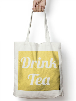Drink Tea Funny Mug Tote Bag For Life Shopper Geek Shopping E57
