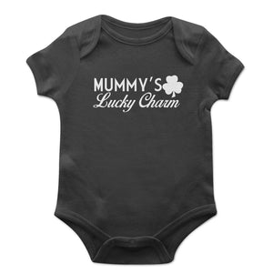 Mummy's Lucky Charm Baby Grow Kids Children St Patricks Day Ireland Vest EP24