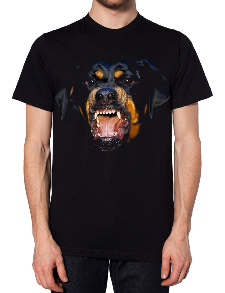 Angry Dog Black T Shirt Rottweiler Funny Designer Top Brand Apparel Men Women