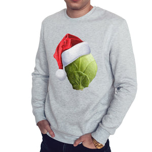 Sprout Hat Funny Christmas Sweater Men Womens Kids Novelty Sweatshirt Santa Gift
