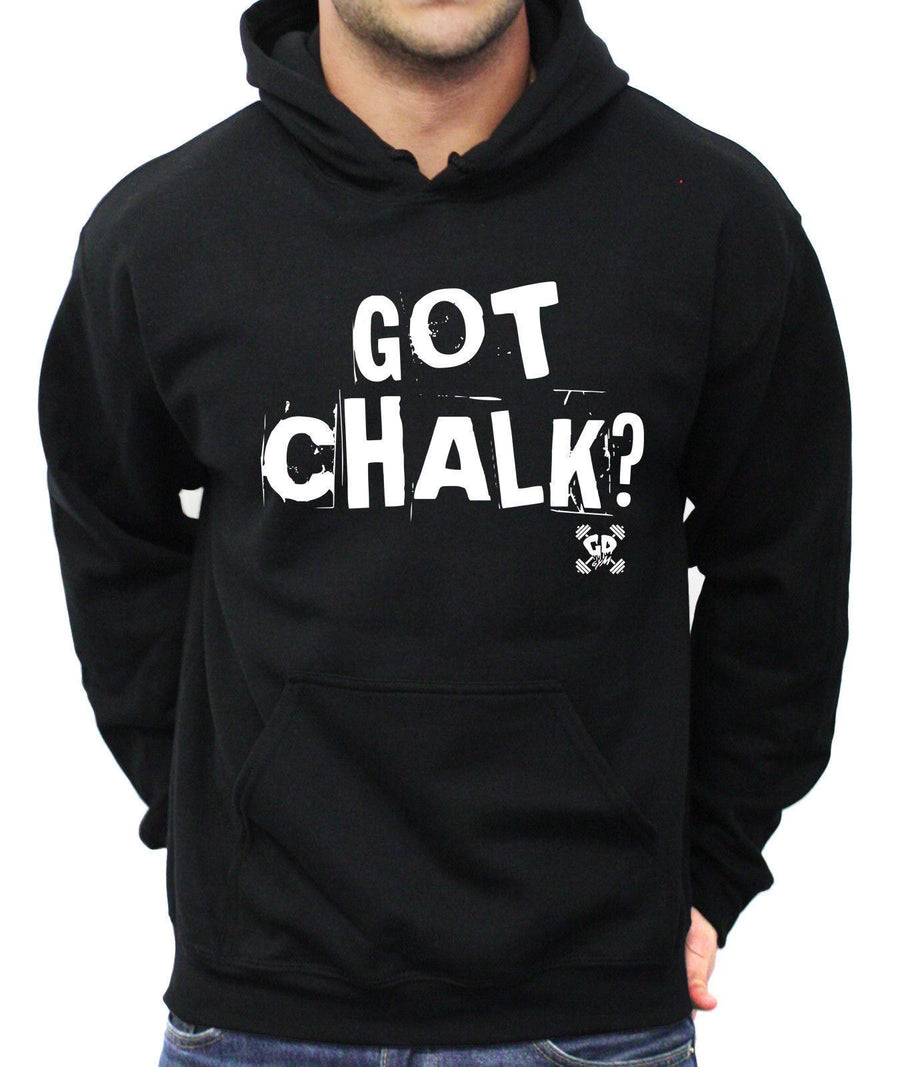 Got Chalk Hoodie Gym Weight Lifting Top Brand Power Train Gains Lean Core