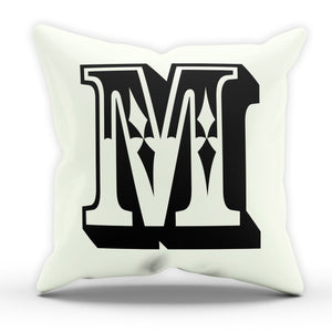 M Rose Letter Cushion Pillow Personalised Gift Present Birthday New Home Furnish