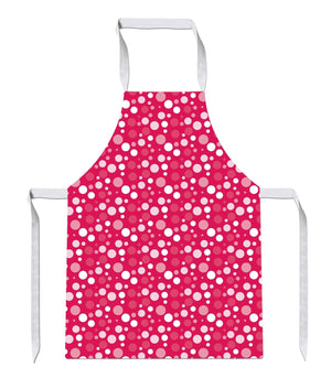 Pink Dot Pattern Print Kitchens Novelty Funny APRON Kitchen Tabard Linen 22