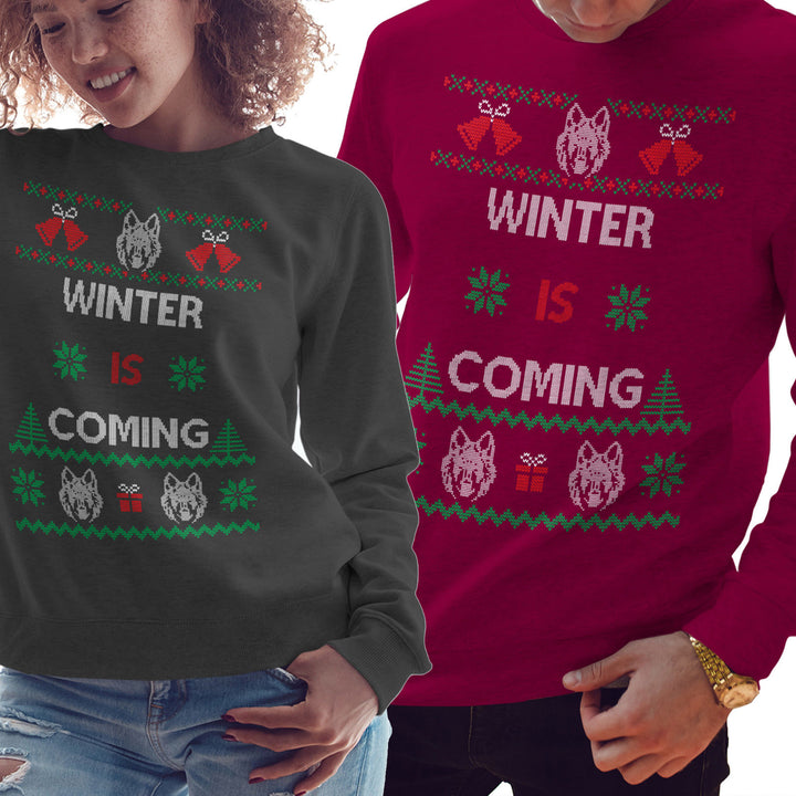 Winter is coming Sweatshirt Christmas Jumper Jon Snow Sweater House Stark CH64