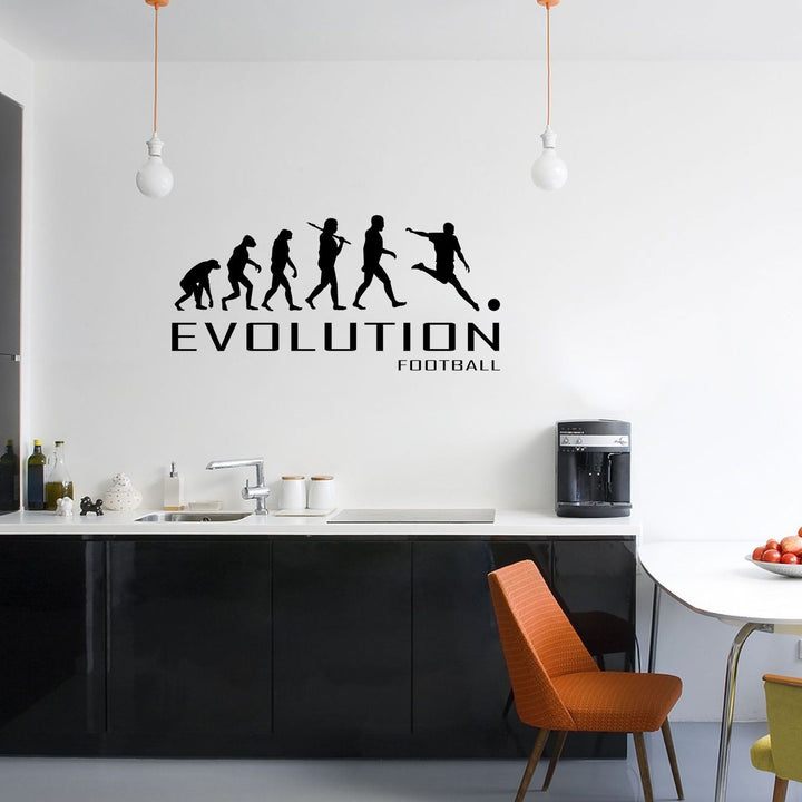 Evolution Of Football Wall Sticker Vinyl Decal Decors Art Footy Soccer Ball