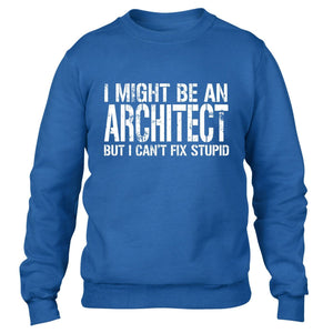 I MIGHT BE AN ARCHITECT BUT I CANT FIX STUPID SWEATER FUNNY WORK JUMPER