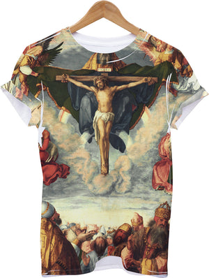 ADORATION ALL OVER PRINT CHRIST T SHIRT JESUS CROSS HOLY GRAIL SWAG MEN RELIGION