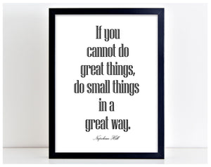 Great Things Nepoleon Hill Quote Poster Print Typography Picture Home Art PP30