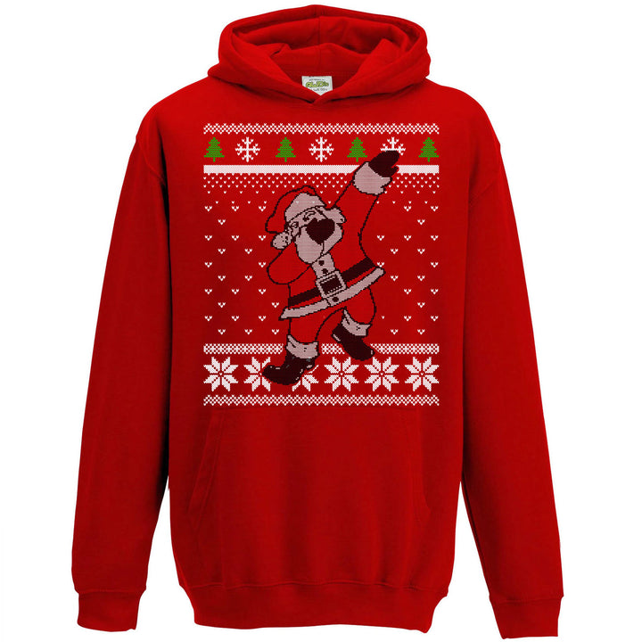 Kids Dabbing Santa Hoodie Christmas Jumper Day Hoody Cool Boys Adult Xmas L156