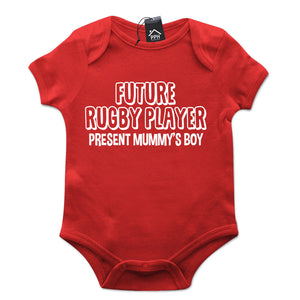 Future Rugby Player Present Mummys Boy Babygrow Gift Baby Grow Suit New Born B16