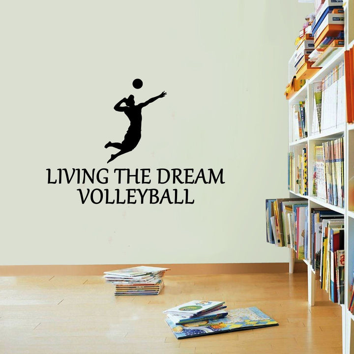 Volleyball Sticker Living The Dream Sport Beach Ball Wall Vinyl Print Decal Art